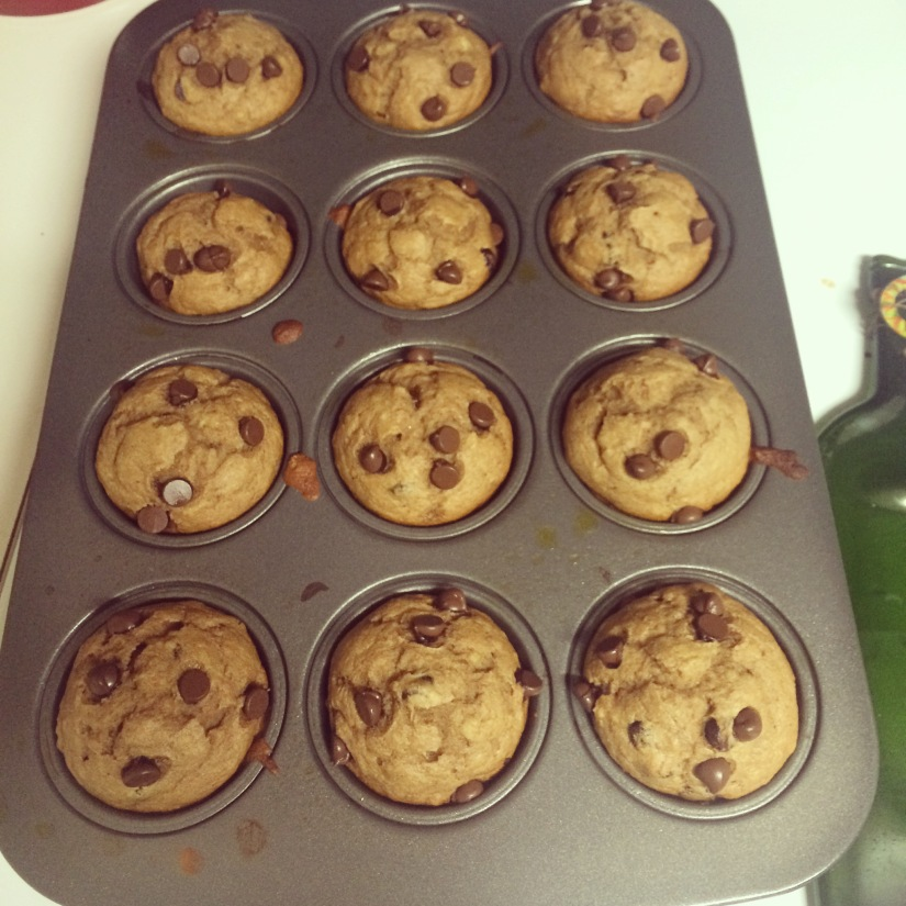 {Better for you} Banana Chocolate Chip Muffins